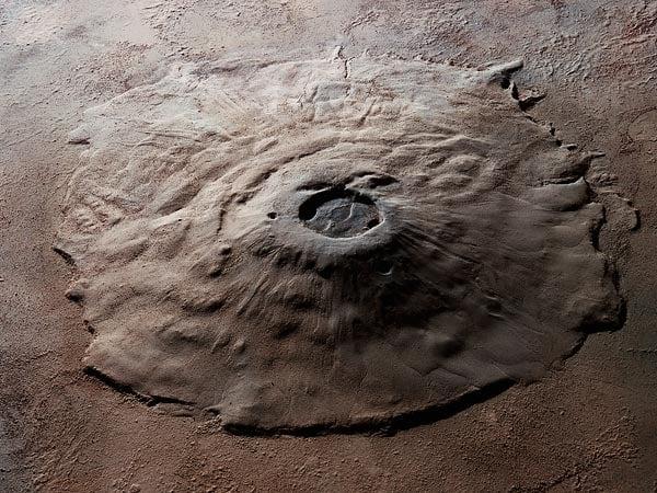 A habitable environment on Martian volcano?