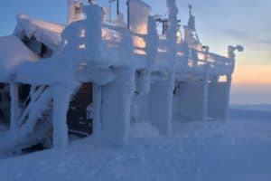Snow chaos in Europe caused by melting sea-ice in the Arctic
