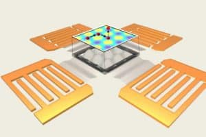 Sound-Induced Electric Fields Control the Tiniest Particles
