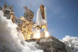 Pioneering rocket launch points way toward more rapid interplanetary travel, reduced air burden