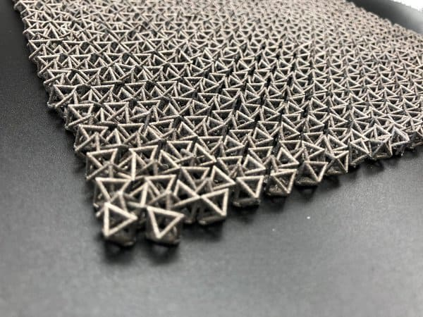Material Inspired by Chain Mail Transforms from Flexible to Rigid on Command